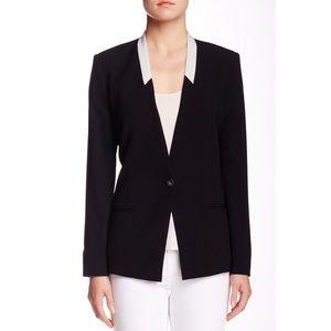 Helmut Lang shawl collar blazer black white career